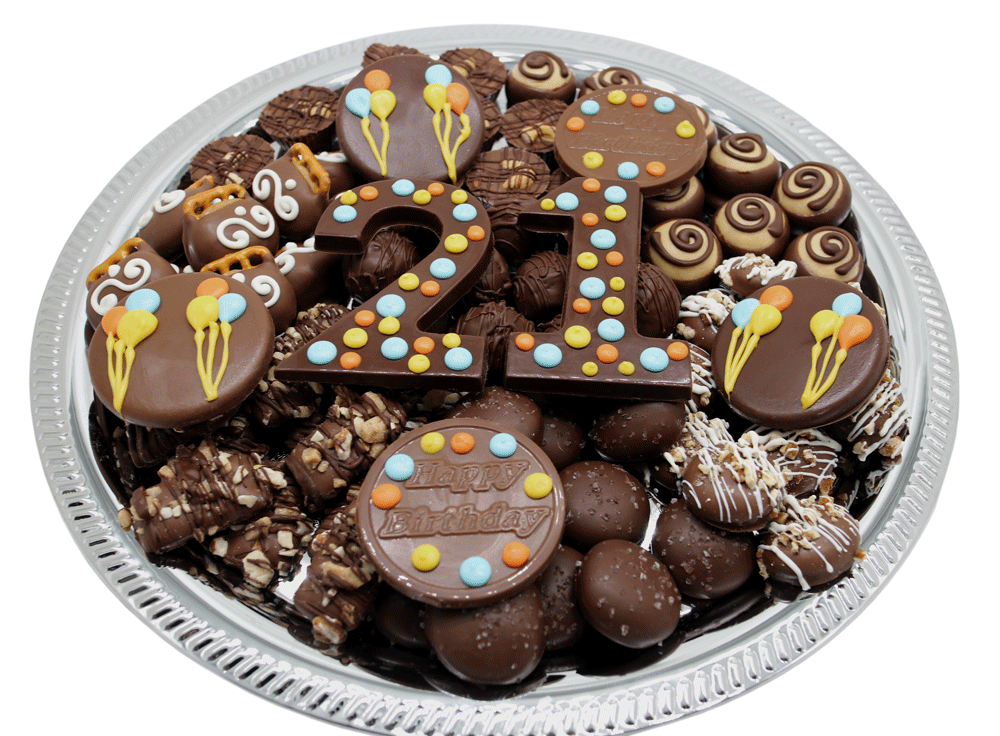 Make this birthday sweeter with customized gourmet chocolates - 21st birthday