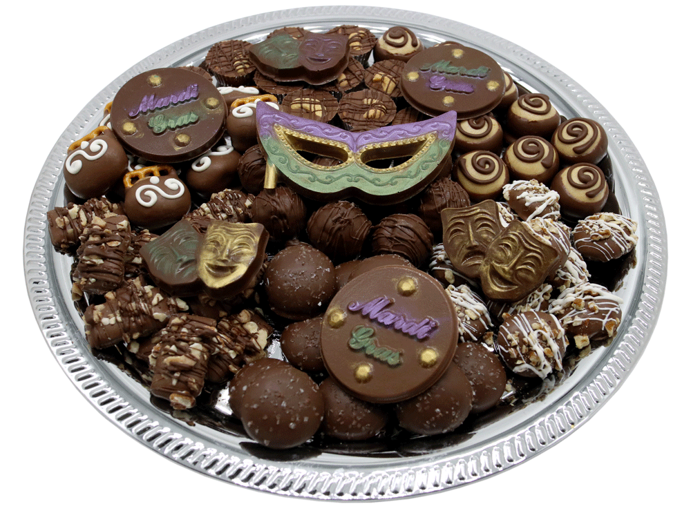 Celebrate any holiday with customizable gourmet chocolate from Homemade Chocolates by Michelle - Mardi Gras