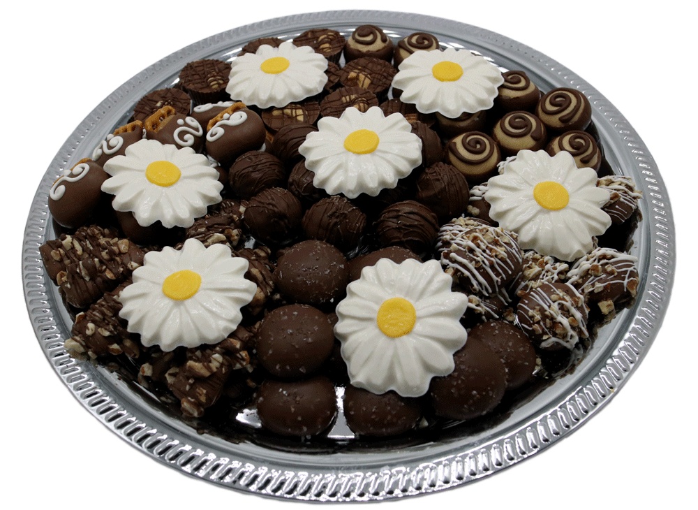 Customizable gourmet Chocolate Bereavement Trays available at Homemade Chocolates by Michelle