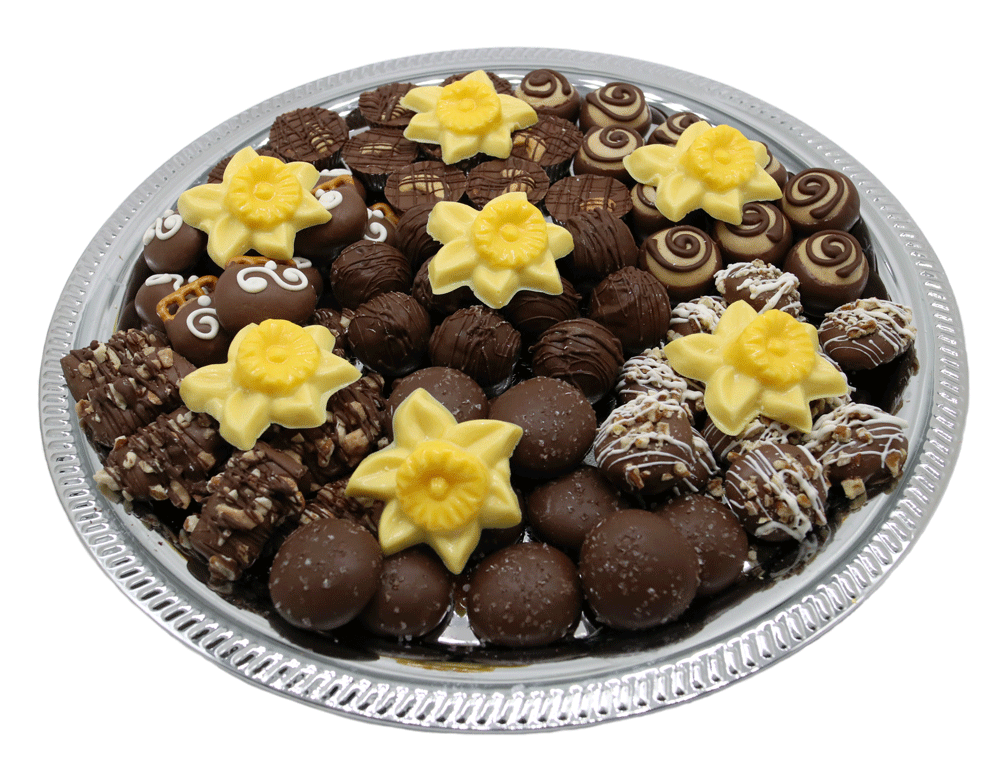 Customizable gourmet Chocolate Bereavement Trays available at Homemade Chocolates by Michelle - Lily