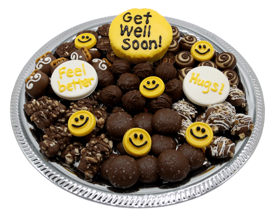 Get well soon chocolates available at Homemade Chocolates by Michelle